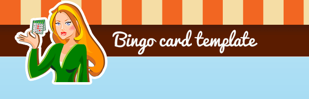 Bingo card template banner